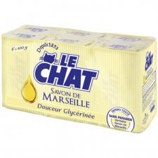 le chat savon mains douceur glycerinee savon de marseille 6 pieces
