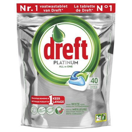 dreft platinum all in one 40 doses