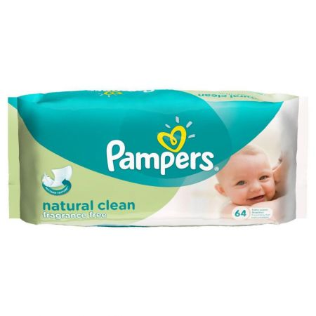 pampers natural clean lingettes