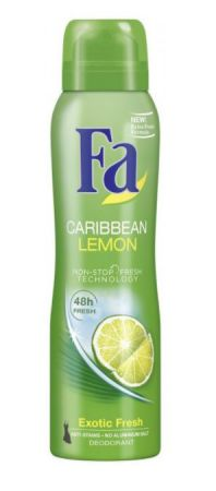fa caribbean lemon deodorant exotic fresh 48h 150 ml