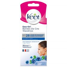 veet easy gel bandes de cire 20 pieces