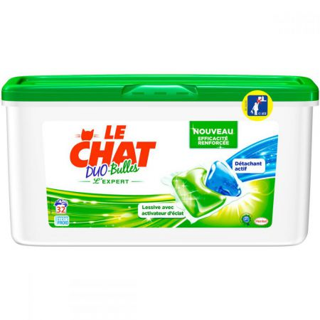 le chat 32 duo bulles lessive expert le chat